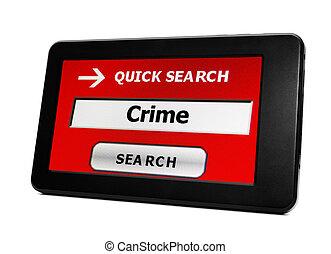 pc, tablette, crime