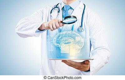 pc, tablette, docteur