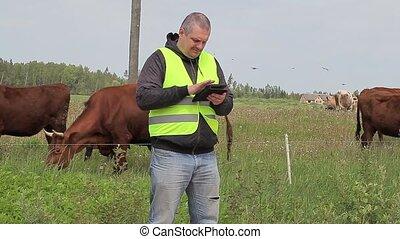 pc, tablette, fonctionnement, paysan