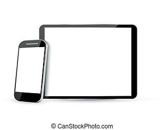 pc tavoletta, mobile, schermo, telefono, computer