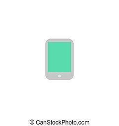 pc, vecteur, tablette, icône