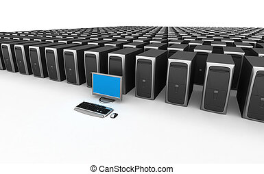PC Workstation  - Image of PC Workstation. White background