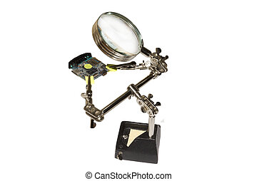 PCB is under the magnifying glass