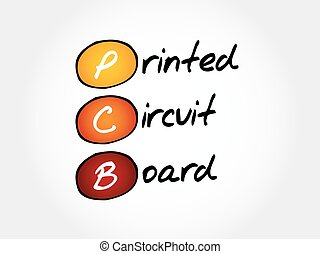 PCB Printed Circuit Board, acronym concept