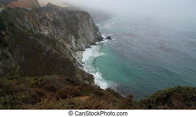 PCH Cliff ocean California