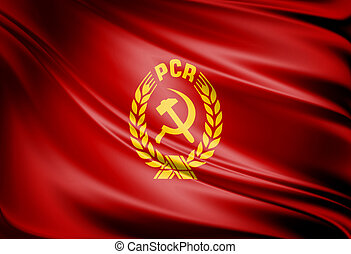 PCR flag - Comunist PCR red flag