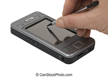 PDA - cell phone - Using a modern PDA with cell phone...