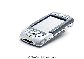 PDA Mobile Phone #1 - PDA Mobile Phone on white, with ...
