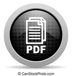 pdf black circle web glossy icon