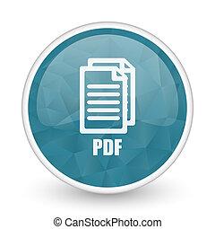 Pdf brillant crystal design round blue web icon.,