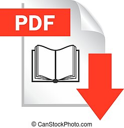 Pdf document download icon