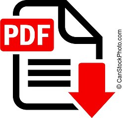Pdf document download vector icon