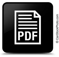 PDF document icon black square button