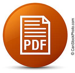 PDF document icon brown round button