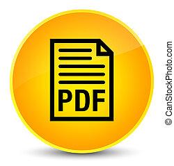 PDF document icon elegant yellow round button