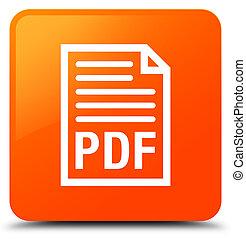 PDF document icon orange square button
