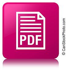 PDF document icon pink square button