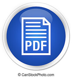 PDF document icon premium blue round button