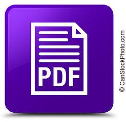 PDF document icon purple square button