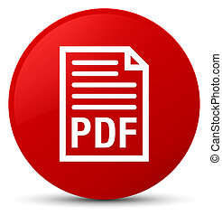 PDF document icon red round button