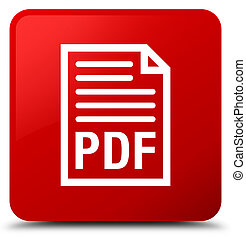 PDF document icon red square button