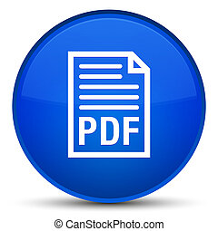 PDF document icon special blue round button
