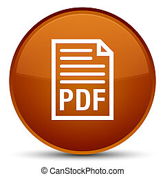 PDF document icon special brown round button