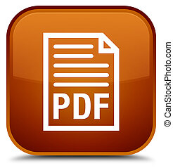 PDF document icon special brown square button