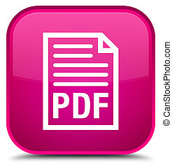 PDF document icon special pink square button