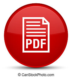 PDF document icon special red round button