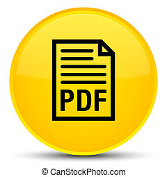 PDF document icon special yellow round button