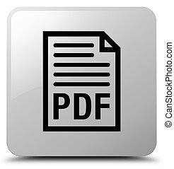 PDF document icon white square button