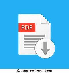 pdf document vector download pdf file format