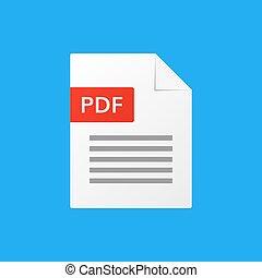 pdf document vector illustration pdf file format icon