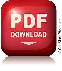 Pdf download button. Vector illustration.
