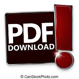 PDF Download Creative Icon Button Design