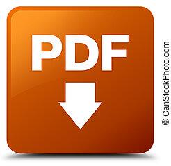 PDF download icon brown square button