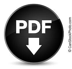 PDF download icon elegant black round button