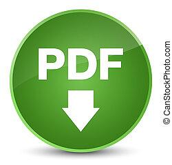 PDF download icon elegant soft green round button