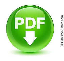PDF download icon glassy green round button