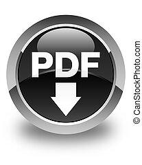PDF download icon glossy black round button