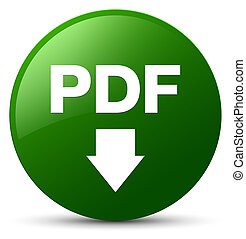 PDF download icon green round button