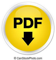 PDF download icon premium yellow round button