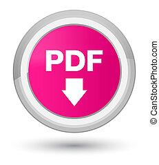 PDF download icon prime pink round button