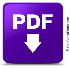 PDF download icon purple square button