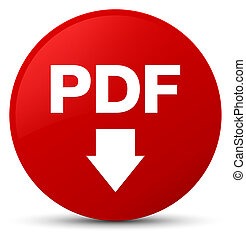 PDF download icon red round button