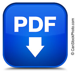 PDF download icon special blue square button