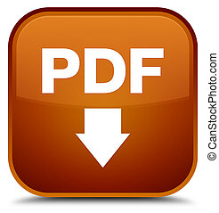 PDF download icon special brown square button