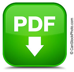 PDF download icon special green square button