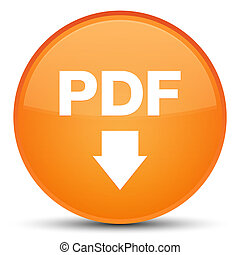 PDF download icon special orange round button
